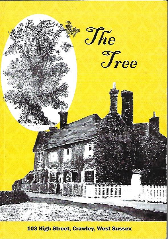 book cover image of house on yellow background. Writing reads 'The Tree, 103 High Street, Crawley, West Sussex