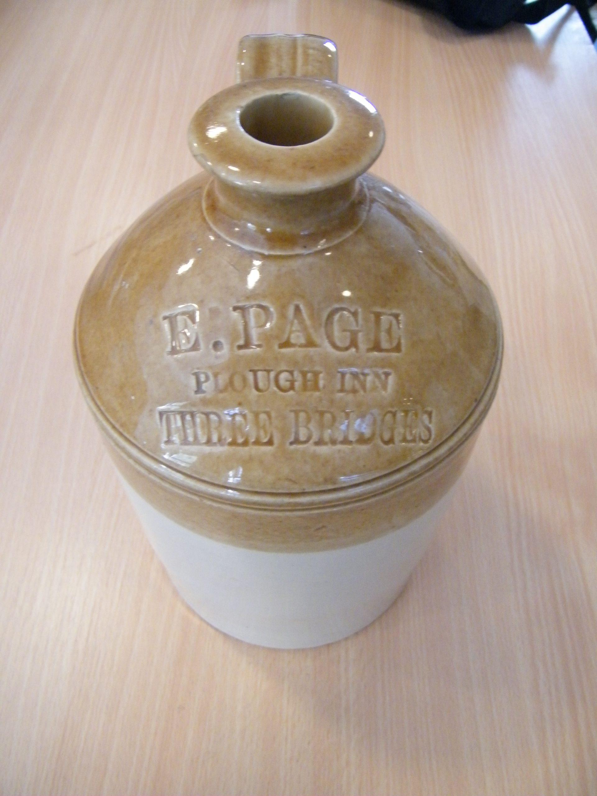 Brown Stoneware Cider Pot