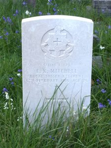 Grave stone of Charles Kenneth Mitchell