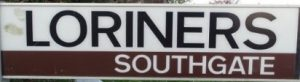 street sign - Loriners, Southgate