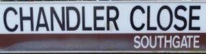 street sign - Chandler Close, Southgate