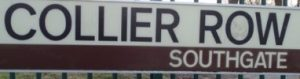 street sign - Collier Row, Southgate