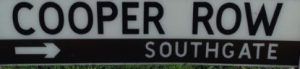 street sign - Cooper Row, Southgate