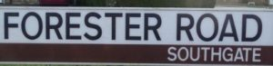 street sign - Forester Road Southgate
