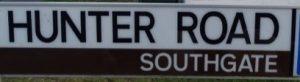 street sign - Hunter Road, Southgate