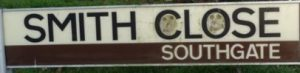 street sign - Smith Close, Southgate