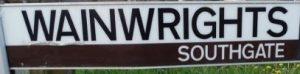 street sign - Wainwrights, Southgate