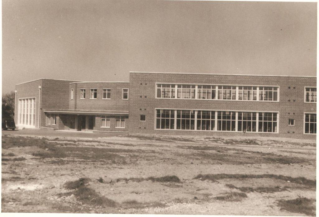 West green Primary School - brick built 1950s school building with large windows