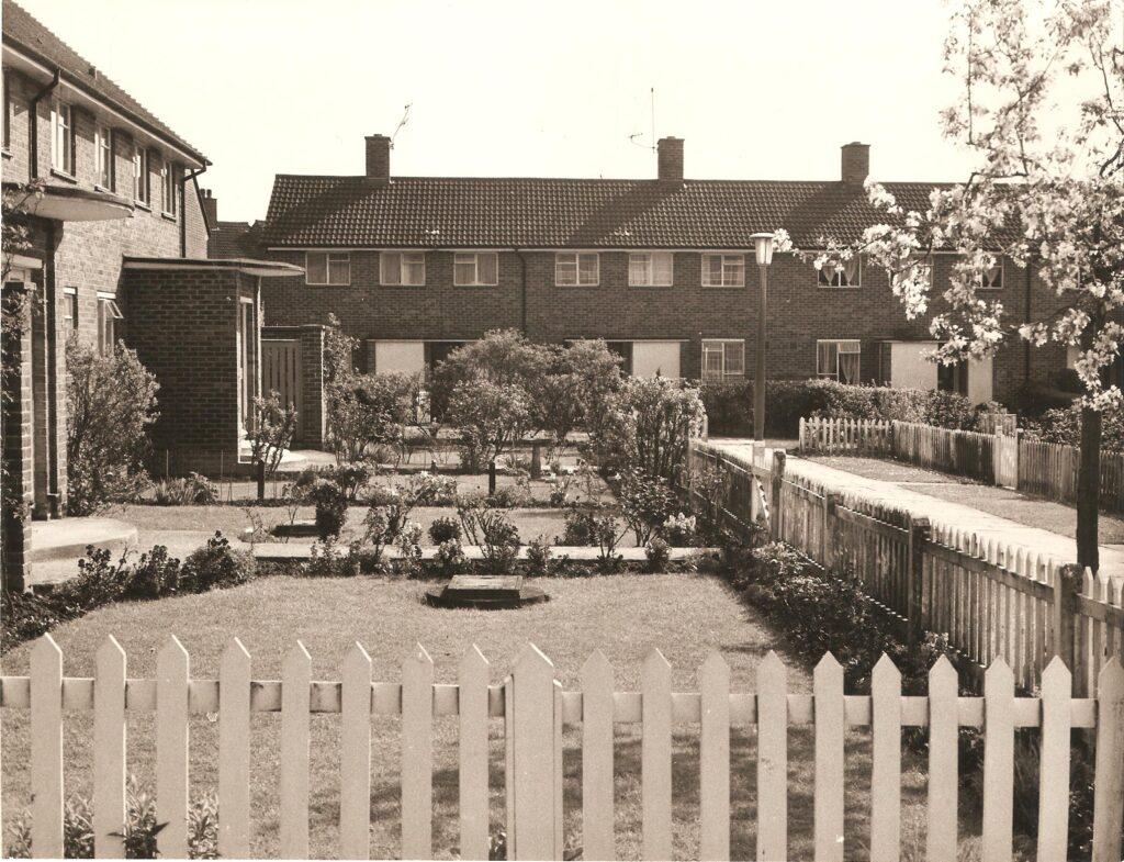 row of 1950s houses
