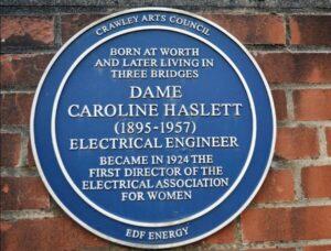 Blue plaque for Caroline Haslett