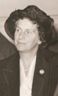 Black and white image of a woman.