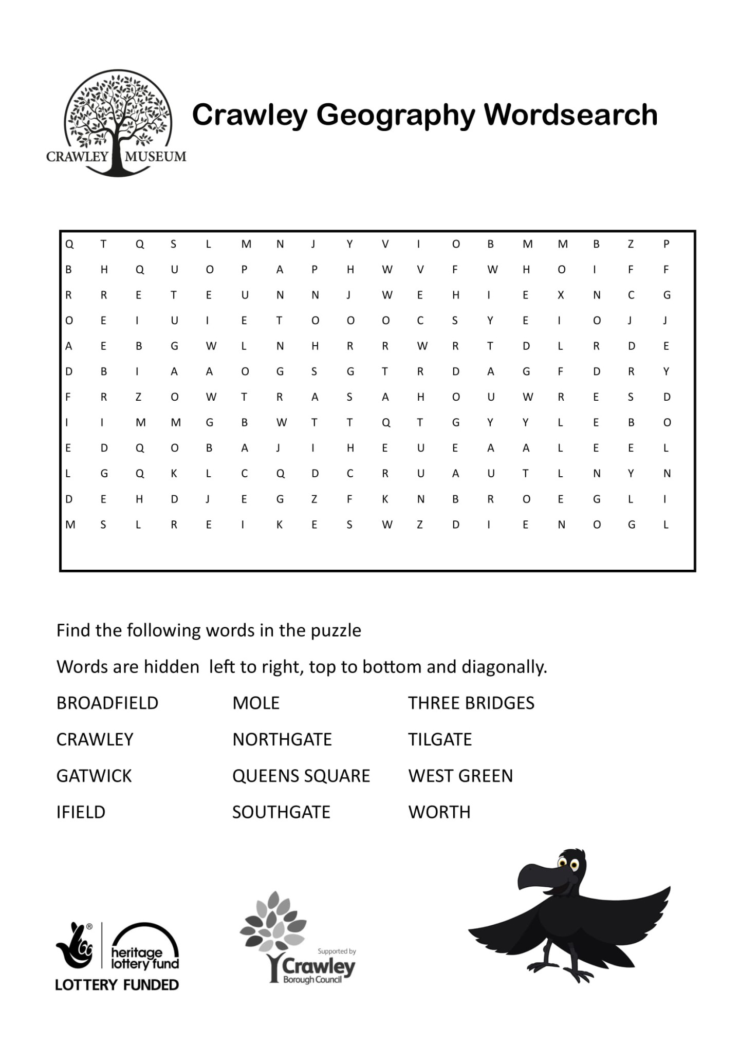 Crawley Geography Wordsearch-1