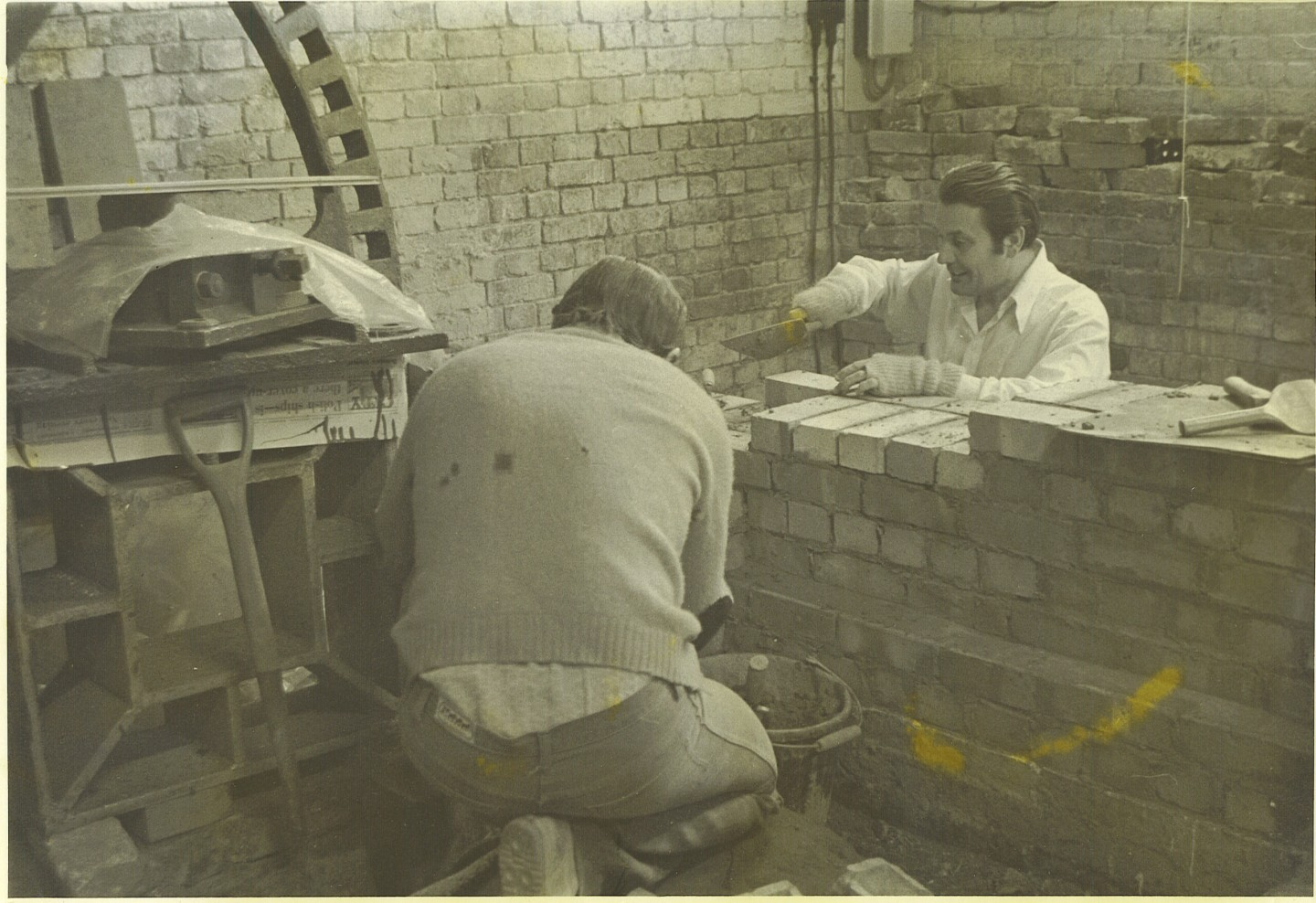 Ted Henbery at work at the Mill